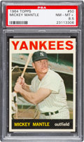 Baseball Cards:Singles (1960-1969), 1964 Topps Mickey Mantle #50 PSA NM-MT+ 8.5....