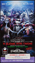 "Movie Posters:Animation, The Nightmare Before Christmas (Touchstone, R-2006). AutographedPromotional Handbill (9.5"" X 17""). 3-D Style. Animation.. ..."