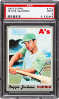 Baseball Cards:Singles (1970-Now), 1970 Topps Reggie Jackson #140 PSA Mint 9....