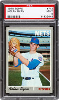 Baseball Cards:Singles (1970-Now), 1970 Topps Nolan Ryan #712 PSA Mint 9....
