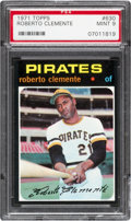 Baseball Cards:Singles (1970-Now), 1971 Topps Roberto Clemente #630 PSA Mint 9 - Only One Higher. ...