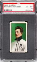 Baseball Cards:Singles (Pre-1930), 1909-11 T206 Old Mill Shag Shaughnessy PSA EX-MT 6....