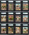 "Boxing Cards:General, 1910 T220 Mecca Silver Borders ""Boxers"" SGC Graded Near Set(21/26). ..."