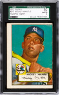 Baseball Cards:Singles (1950-1959), 1952 Topps Mickey Mantle #311 SGC 30 Good 2....