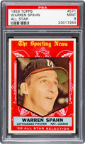 Baseball Cards:Singles (1950-1959), 1959 Topps Warren Spahn #571 PSA Mint 9 - None Higher....