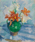 Fine Art - Painting, American:Modern  (1900 1949)  , PATRICK HENRY BRUCE (American, 1881-1936). Floral StillLife, circa 1910. Oil on canvas. 21-1/2 x 18-1/4 inches (54.6 x...