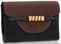 Luxury Accessories:Bags, Loewe Black & Brown Leather Pouch Clutch. ...