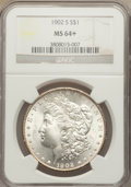 Morgan Dollars: , 1902-S $1 MS64+ NGC. NGC Census: (832/115). PCGS Population (1419/347). Mintage: 1,530,000. Numismedia Wsl. Price for probl...
