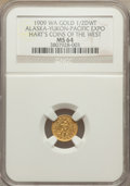 Expositions and Fairs, 1909 Alaska-Yukon-Pacific Exposition, 1/2 DWT, MS64 NGC. Hart's Coins of the West.. The Valley View Life Collection, Part ...