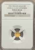 Expositions and Fairs, 1905 Lewis & Clark Exposition, Oregon 1/4 Gold, MS64 NGC....