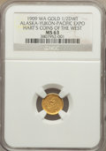 Expositions and Fairs, 1909 Alaska-Yukon-Pacific Exposition, 1/2 DWT, MS63 NGC. Hart'sCoins of the West....