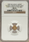 Expositions and Fairs, 1909 Alaska-Yukon-Pacific Exposition, 1/4 DWT, MS63 NGC. Hart'sCoins of the West....