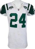 Football Collectibles:Uniforms, 2009 Darrelle Revis Game Worn, Unwashed New York Jets Jersey - Worn 12/3 Vs. Buffalo....