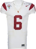 Football Collectibles:Uniforms, 2007 Mark Sanchez Game Worn University of Southern California Trojans Rose Bowl Jersey. ...