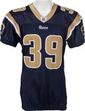 Football Collectibles:Uniforms, 2005 Steven Jackson Game Worn, Unwashed St. Louis Rams Jersey - Worn 11/20 Vs. Arizona....