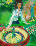 Illustration:Sporting, LEROY NEIMAN (American, 1921-2012). Roulette Dealer (The Girlsof Caesars Palace), 1980. Oil on canvas. 30 x 24 inches (...