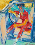 Illustration:Sporting, LEROY NEIMAN (American, 1921-2012). Valet Parking Attendant (TheGirls of Caesars Palace), 1980. Oil on canvas. 30 x 24 ...