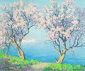 Paintings, RAYMOND THIBÉSART (French, 1874-1968). Cherry Blossoms. Oil on canvas. 20 x 24 inches (50.8 x 61.0 cm). Signed lower rig...