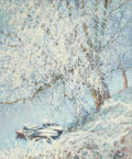 Paintings, RAYMOND THIBÉSART (French, 1874-1968). Frosty Riverbend. Oil on canvas. 29 x 24 inches (73.7 x 61.0 cm). Signed lower ri...