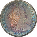 Early Half Dollars, 1806 50C 6 Over Inverted 6 AU58 NGC....