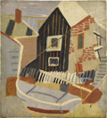 Fine Art - Painting, American:Modern  (1900 1949)  , AMERICAN SCHOOL (Twentieth Century). House with White PicketFence. Oil on canvas. 18 x 16-1/4 inches (45.7 x 41.3 cm). ...
