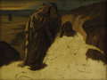 Fine Art - Painting, European:Antique  (Pre 1900), Attributed to ANSELM FRIEDRICH FEUERBACH (German 1829-1880). Pietà (Study). Oil on canvas. 12-1/8 x 15-7/8 inches (30.8 ...