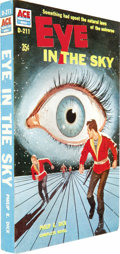 Books:Signed Editions, Philip K. Dick: Signed Ace Double of Eye in the Sky (New York: Ace Books, 1957), first edition, 255 pages, illustrated w... (Total: 1 Item)