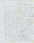 "Autographs:Military Figures, Confederate General Thomas ""Stonewall"" Jackson Autograph Letter Signed..."