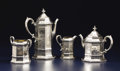 Silver Holloware, British:Holloware, A Victorian Silver Four-Piece Tea and Coffee Service. Joseph and John Angell, London, England. Circa 1843-1844. Silver and... (Total: 4 Items)