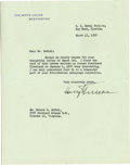 Autographs:U.S. Presidents, Harry S. Truman Typed Letter Signed and Two Grover Cleveland Autograph Letters Signed.... (Total: 3 Items)
