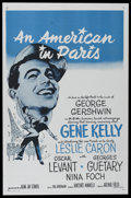 "Movie Posters:Academy Award Winner, An American In Paris (MGM, R-1950s). International One Sheet (27"" X41""). Musical. Directed by Vincente Minnelli. Starring G..."