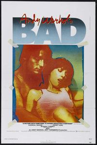 "Andy Warhol's Bad (New World Pictures, 1977). One Sheet (27"" X 41""). Comedy. Directed by Jed Johnson. Starring..."