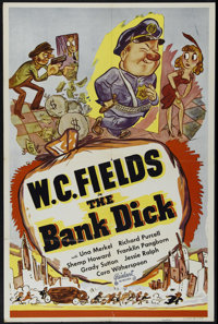 "The Bank Dick (Realart, R-1949). One Sheet (27"" X 41""). Comedy. Directed by Edward F. Cline. Starring W.C. Fie..."