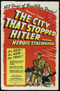 """Movie Posters:Documentary, The City That Stopped Hitler -- Heroic Stalingrad (Paramount, 1943). One Sheet (27"""" X 41""""). Documentary. Written by John Wex..."""