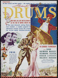 "Movie Posters:Adventure, Drums (United Artists, 1938). Herald (9"" X 12""). Adventure.Directed by Zoltan Korda. Starring Sabu, Raymond Massey, Desmond..."