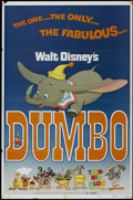 "Movie Posters:Animated, Dumbo (Buena Vista, R-1972). One Sheet (27"" X 41""). AnimatedChildren's. Directed by Samuel Armstrong, Norman Ferguson, Wilf..."