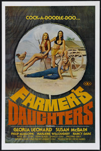 """Farmer's Daughters (Alpha Blue, 1973). One Sheet (25"""" X 37.5""""). Adult. Directed by Zebedy Colt. Starring Spald..."""