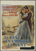 "Movie Posters:Academy Award Winner, Gone With the Wind (MGM, 1939). Belgian Poster (23"" X 33"").Romantic Epic. Directed by Victor Fleming, Sam Wood and George C..."
