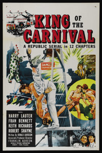"""King of the Carnival (Republic, 1955). One Sheet (27"""" X 41""""). Serial. Directed by Franklin Adreon. Starring Ke..."""