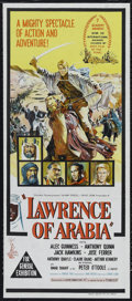 """Movie Posters:Academy Award Winner, Lawrence of Arabia (Columbia, 1962). Australian Daybill (13"""" X 30""""). Epic. Directed by David Lean. Starring Peter O'Toole, A..."""