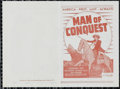 """Movie Posters:Western, Man of Conquest (Republic, 1939). Herald (4.5"""" X 7""""). Western. Directed by George Nichols, Jr. Starring Richard Dix, Gail Pa..."""