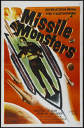 "Movie Posters:Science Fiction, Missile Monsters (Republic, 1958). One Sheet (27"" X 41""). ScienceFiction. Directed by Fred C. Brannon. Starring Walter Reed..."