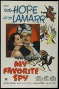 """Movie Posters:Comedy, My Favorite Spy (Paramount, 1951). One Sheet (27"""" X 41""""). Comedy. Directed by Norman Z. McLeod. Starring Bob Hope, Hedy Lama..."""