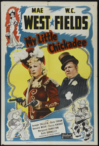 "My Little Chickadee (Realart, R-1948). One Sheet (27"" X 41""). Western Comedy. Directed by Edward F. Cline. Sta..."