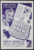"Movie Posters:Mystery, Nancy Drew -- Detective (Warner Brothers, 1938). Herald (6"" X 9"").Mystery. Directed by William B. Clemens. Starring Bonita ..."