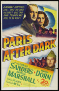"Movie Posters:War, Paris After Dark (20th Century Fox, 1943). One Sheet (27"" X 41"").War. Directed by Leonide Moguy. Starring George Sanders, P..."