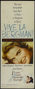 """Movie Posters:Foreign, Paris Does Strange Things (Warner Brothers, 1956). Insert (14"""" X 36""""). Comedy Drama. Directed by Jean Renoir. Starring Ingri..."""
