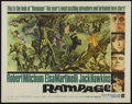 "Movie Posters:Adventure, Rampage (Warner Brothers, 1963). Half Sheet (22"" X 28""). Adventure.Directed by Phil Karlson. Starring Robert Mitchum, Elsa ..."