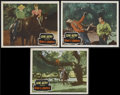 """Movie Posters:Western, Rim of the Canyon (Columbia, 1949). Lobby Cards (3) (11"""" X 14""""). Western. Directed by Jon English. Starring Gene Autry, Nan ... (Total: 3 Items)"""