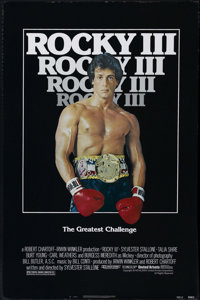 """Rocky III (United Artists, 1982). One Sheet (27"""" X 41""""). Sports Drama. Directed by Sylvester Stallone. Sylvest..."""